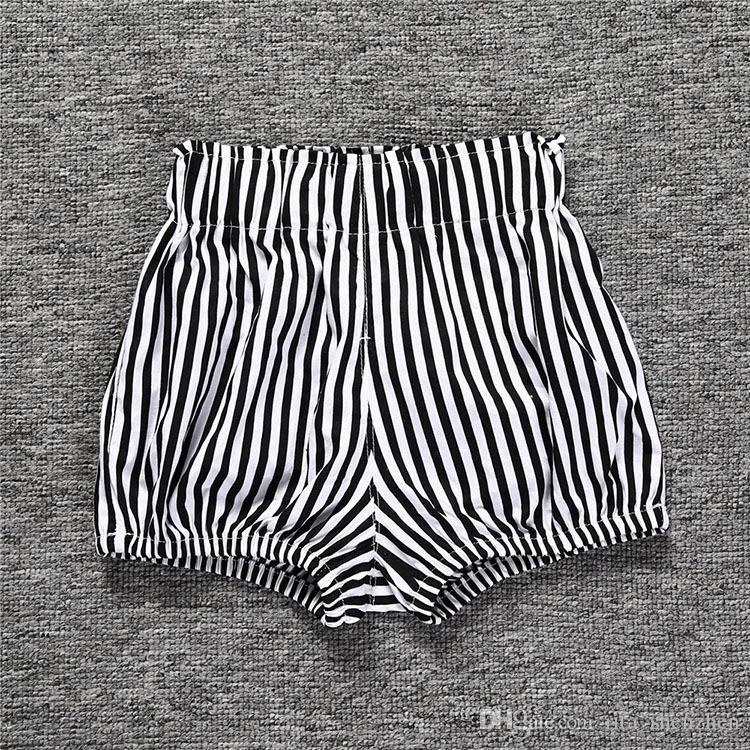 Multicolor Kids Baumwolle lose Shorts reine Farbe Plaids Streifen Dreieck Muster Ins heiße Kinder kurze Hosen für 0-6 T Jungen Mädchen