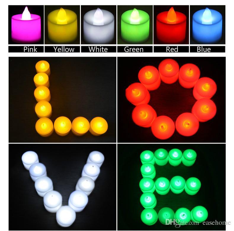 Venta caliente LED Luz Vivid Vivid Velles ecológicos en es para la decoración de la fiesta de boda del hogar Control remoto