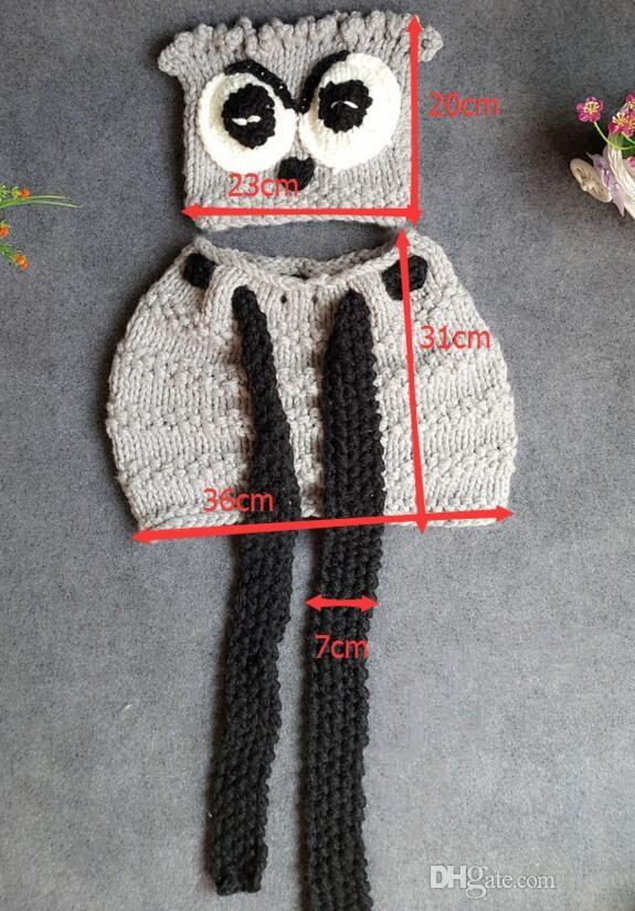 Baby Beanie Schal Winter Wolle OWL Weihnachten Dekoration Kid Hand Häkeln Cap mit Schal Schöne Baby Beanie Handgemachte Mütze Infant stricken OWL Hüte