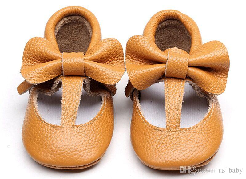 Zapatos para niños pequeños Bow Mocss, suela suave, informal, interior, zapatillas de deporte para caminar zapatos prewalker Princess Shoes
