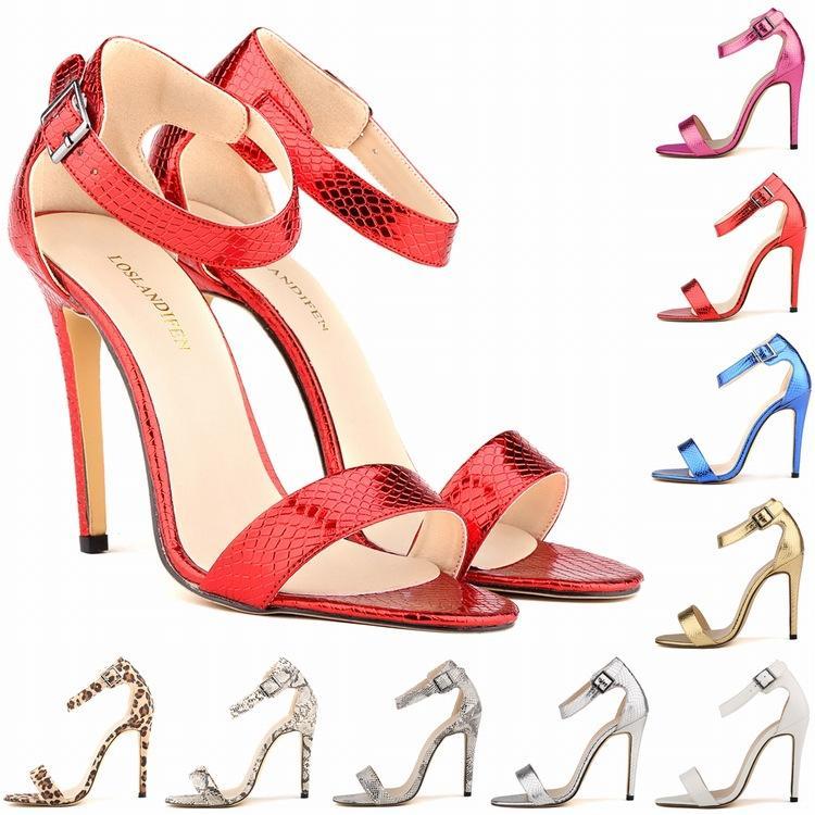 7ea77ee00c57 Chaussure Femme Sexy Commute Temperament Summer Brand Design Alligator  Snake Skin Party Shoes High Heels Big Size 35-42 D0015 Women Punps Sandals  Women ...