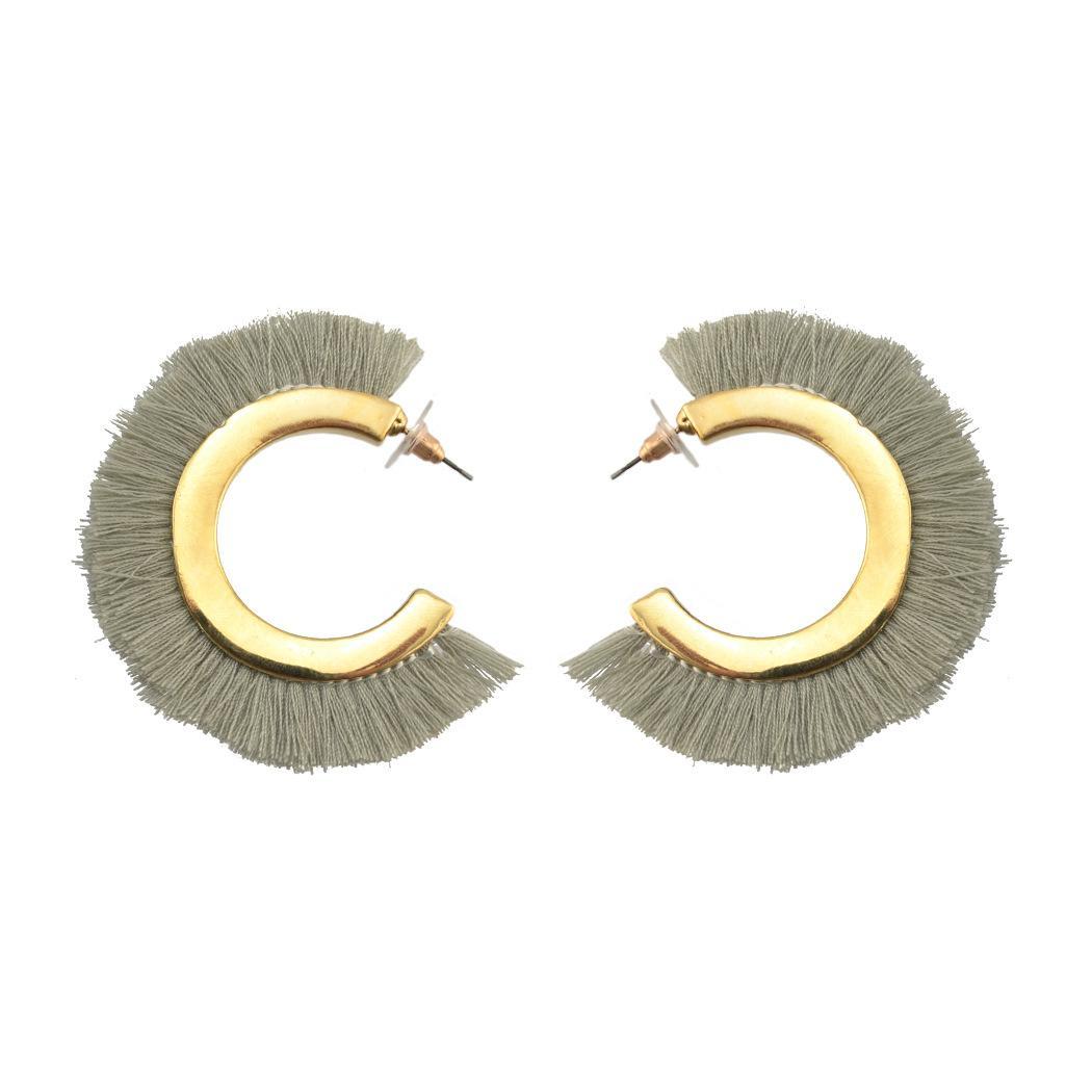패션 브랜드 빈티지 민족 스터드 귀걸이 여성을위한 Boho 골드 컬러 tassels 큰 원형 후프 귀걸이 브랜드 쥬얼리 도매 무료 배송