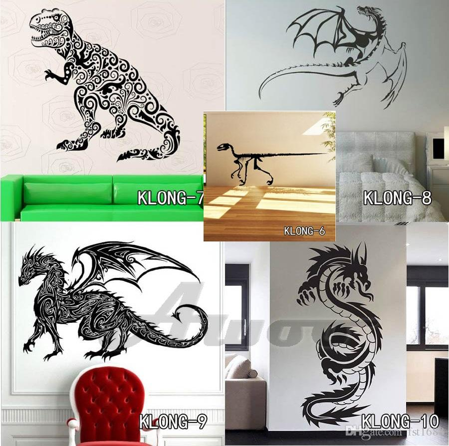 3D Dinosaurs Wall Stickers for Kids Room Decoration DIY Home Decals Cartoon Dinosaurs Sticker Art For Living Room Posters