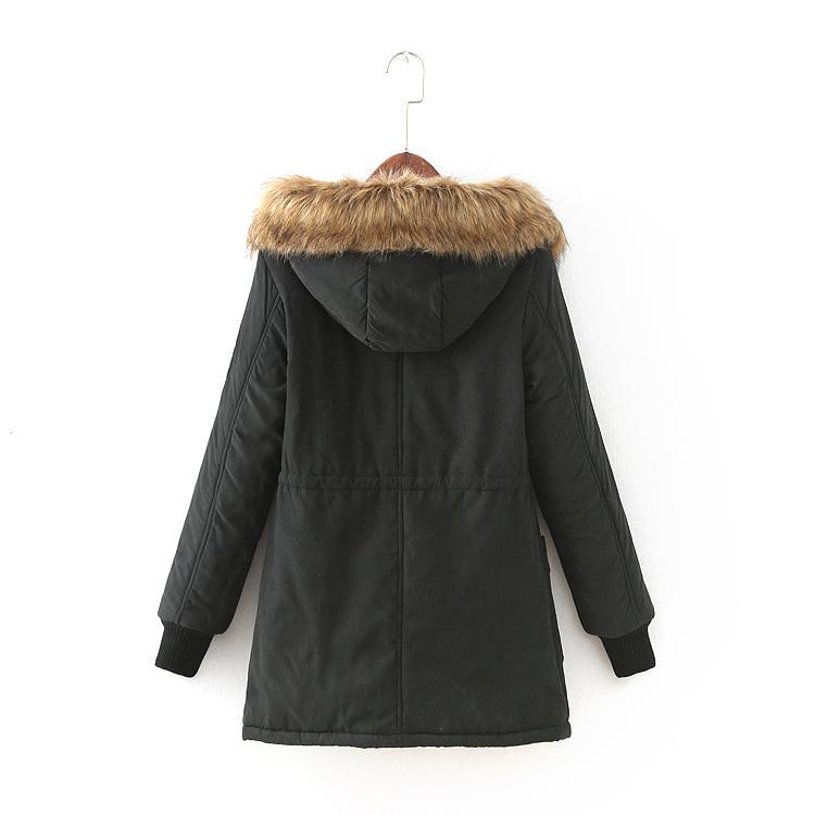 Compre Parka Abrigo De Invierno Chaqueta De Las Mujeres De Invierno Casual Mujer Outwear Militar Sudaderas Con Capucha Abrigos De Piel Sudaderas Con