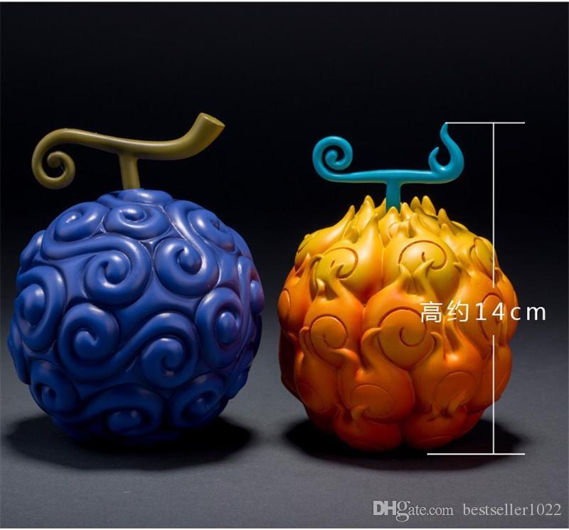 2 اساليب قطعة واحدة فاكهة الشيطان الآس لهب لهب الفاكهة وفي الصمغ الصمغ الفاكهة عمل الشكل النموذجي لعبة اللعب اليابانية الكرتون ولعب دمية