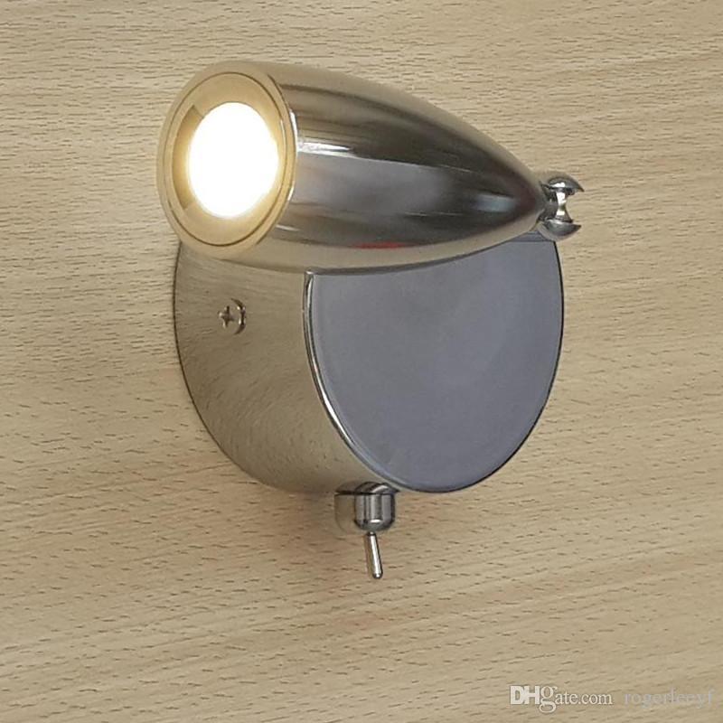 Topoch LED Okuma Işık Yataklar Için Lamba Sert Kablolu On-Off Anahtarı Kafa Döner Tilt Dar Işın AC100-240V Odası RV Tekneler Aydınlatma