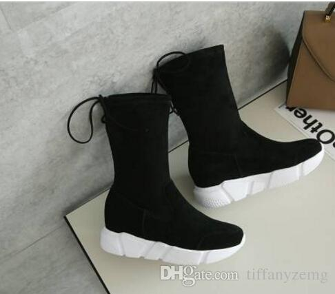 2018 women winter shoes flat heel ankle boots casual cute warm shoes fashion snow boots women's boots