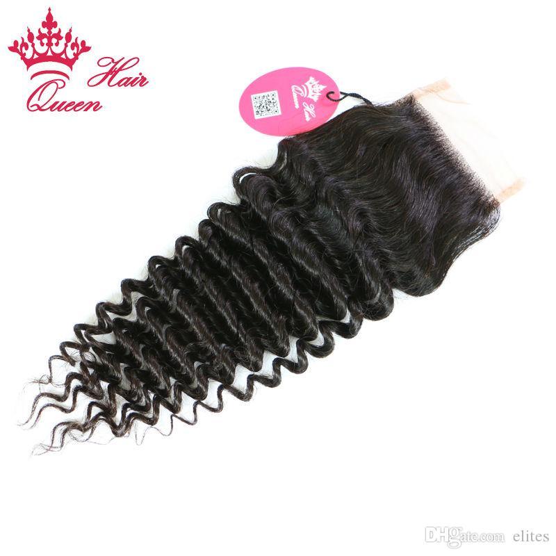 퀸 헤어 제품 번들, / 브라질 깊은 파도 레이스 클로저 브라질 버진 인간의 머리카락 직조 확장 10