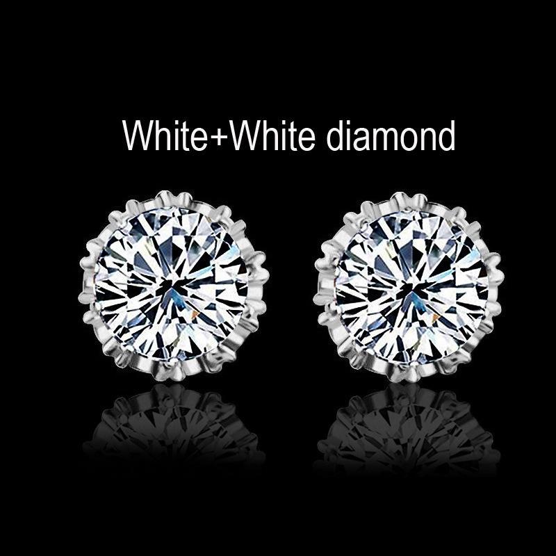 밴드 새로운 신부의 크라운 웨딩 스터드 귀걸이 2017 새로운 925 스털링 실버 CZ 시뮬레이션 다이아몬드 약혼 아름다운 보석 크리스탈 귀 반지