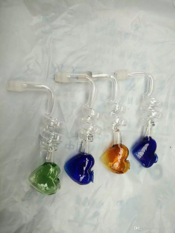 Renkli Aşk görüntü Spiral cam bongs kaseler Nargile sevimli teçhizat petrol kulesi ile 14 veya 18mm bongs için çanaklar