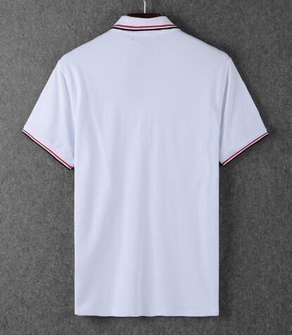 London Men Solide Polo Shirt Kurzarm Tops Turn-down Collar Polo-Shirts Businesskleidung Male Brit Fashion England beiläufige Polos