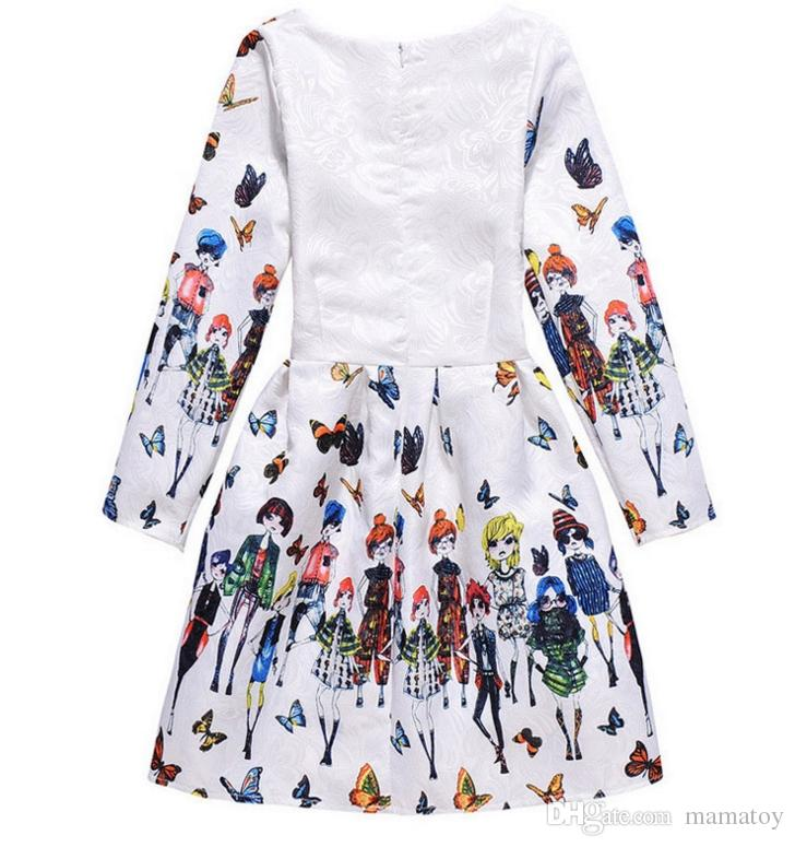 6-12 Years Old Kids Baby Girl Children Fall Dresses Butterfly Clothes for Little Girls Ball Gown Toddlers tutu costume Dress