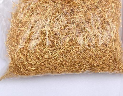 Eyepin risultati Nuovo Arriva/ oro placcato testa di ferro pins pins misura monili che fanno 26mm argento all'ingrosso bronzo nichel colore