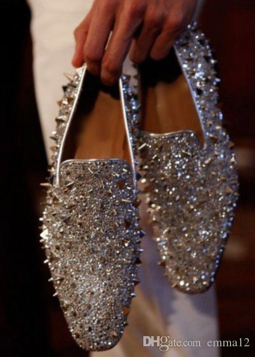 اليدوية أحذية رجالي اللباس الإيطالية الجلود رصع الشقق متعطل أحذية الرجال الاحذية الأزياء مسنبل متعطل 35-46