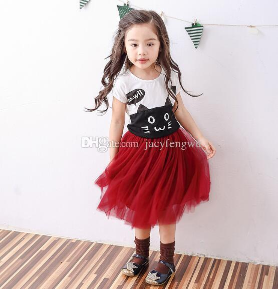 baby girl skirts mother and daughter dress boutique girls clothing ruffle kids outfit tutu dresses wholesale baby children clothes XZT019