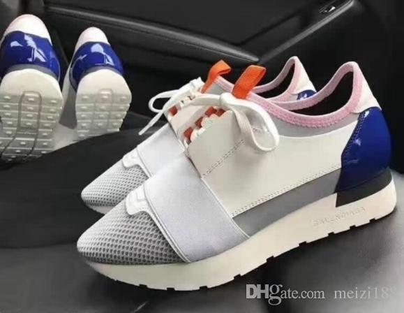 100% guaranteed cheap price cheap sale free shipping 2018 Designer Luxury Brand Fashion Woman Man Casual Shoes Flat Leather Mesh Patchwork Trainer Fashion Unisex Shoes size 34-47 5Jh4sRN4h