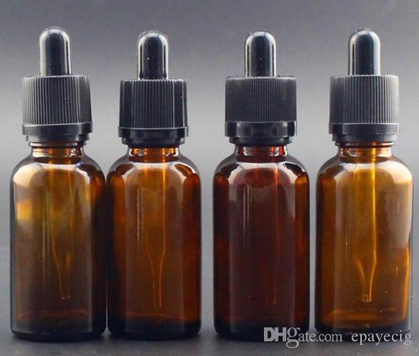 moins cher e flacon compte-gouttes en verre liquide 30ml clair couleur ambre inviolable cap pour l'huile essentielle de jus e