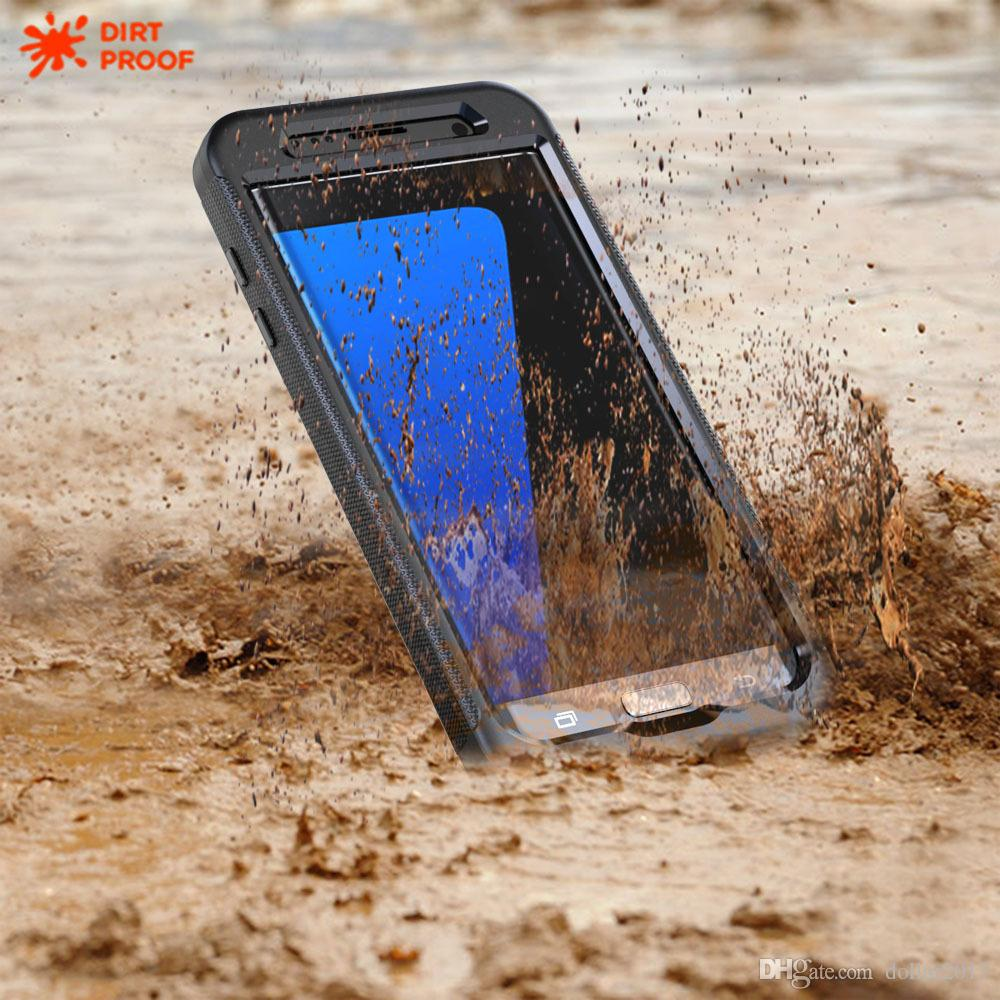 best service af1ca 85ba5 IP68 waterproof Diving case cover For Samsung Galaxy S8 plus S7 edge  dirt-proof snow-proof shock-proof with retail box