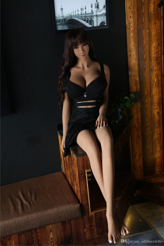165 cm Real Silicone Sex Dolls gli uomini Orale Anale Realistico a grandezza naturale della vagina grande seno masturbatore maschile giocattoli sexy adulti culo figa