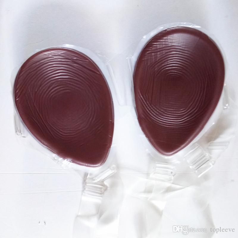 Brązowy kolor kropla łez Proteza piersi Fałszywe cycki Enhancer Crossdresser Buste Care towary medyczne silikonowe klasy ładny prezent dla partnera