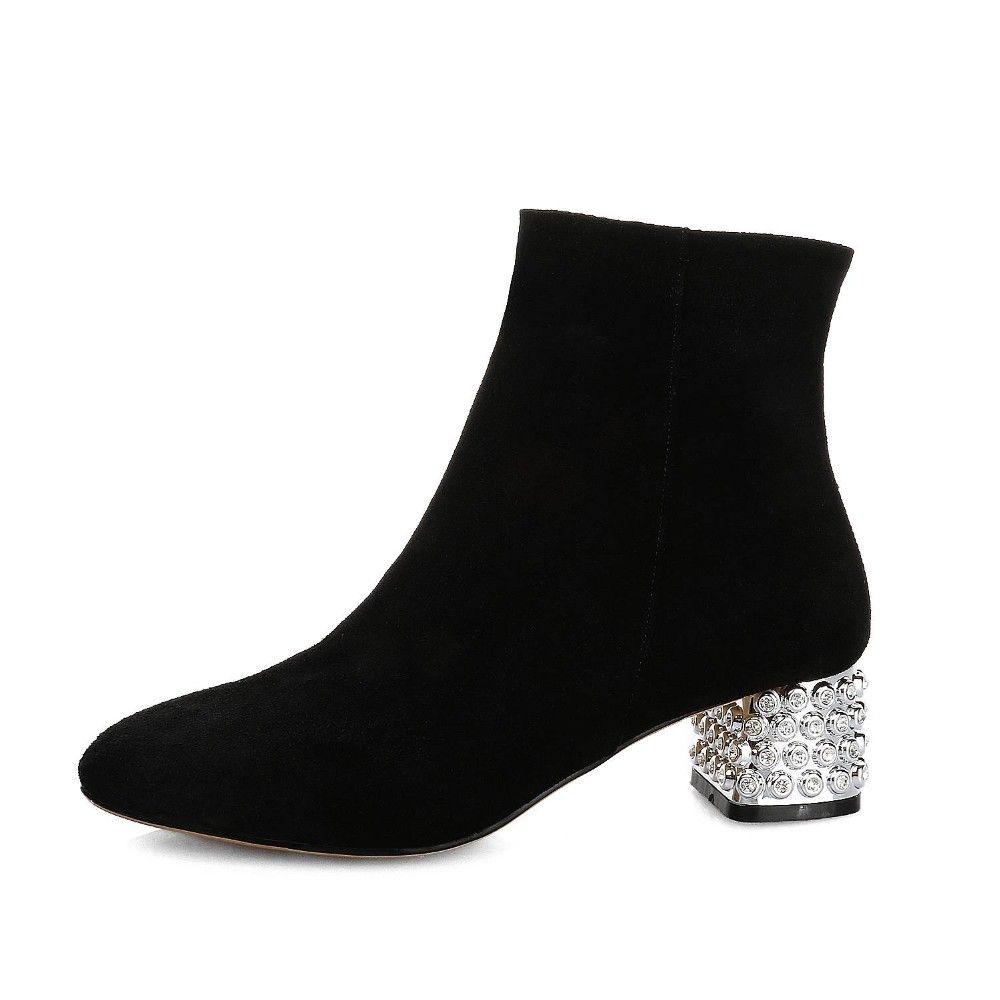 2017 neue mode wasser diamant karree diamant karree metall hochwertige damen stiefelette marke winterstiefel