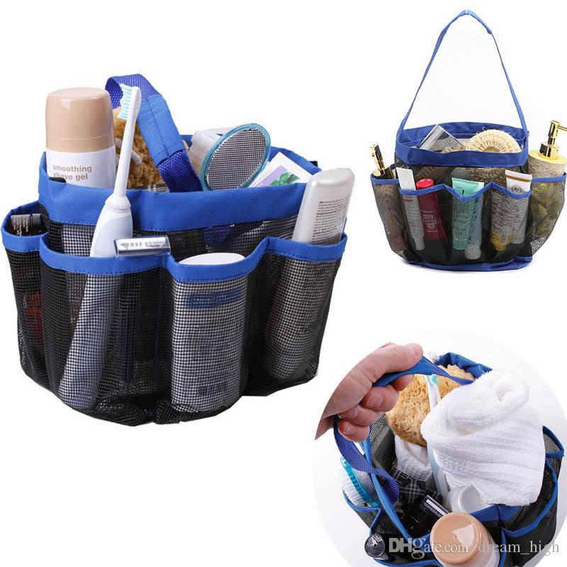 2018 Storage Bags Quick Dry Hanging Mesh 8 Pocket Shower Caddy Tote ...