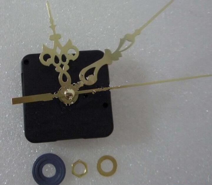 Diy Quarz Uhrwerk Mechanismus Glocke Kernschaft Länge 12 MM Stunde Minute Sekunde Zeiger Uhr Zubehör Set Gold Rot Farbe