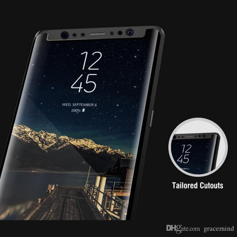 Pellicola protettiva schermo in vetro temperato Samsung Galaxy Note 8 Pellicola protettiva protezione totale temperata