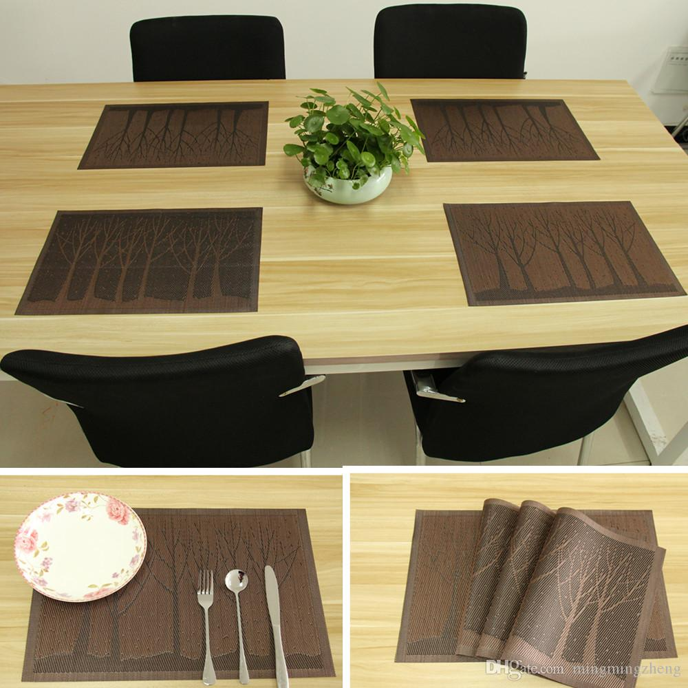 2018 Dining Table Mats, Pvc Place Mats For Kitchen Table, Washable Table  Mats, Placemats For Kids Set Of 4 Coffee Tree From Mingmingzheng, $11.05 |  Dhgate.