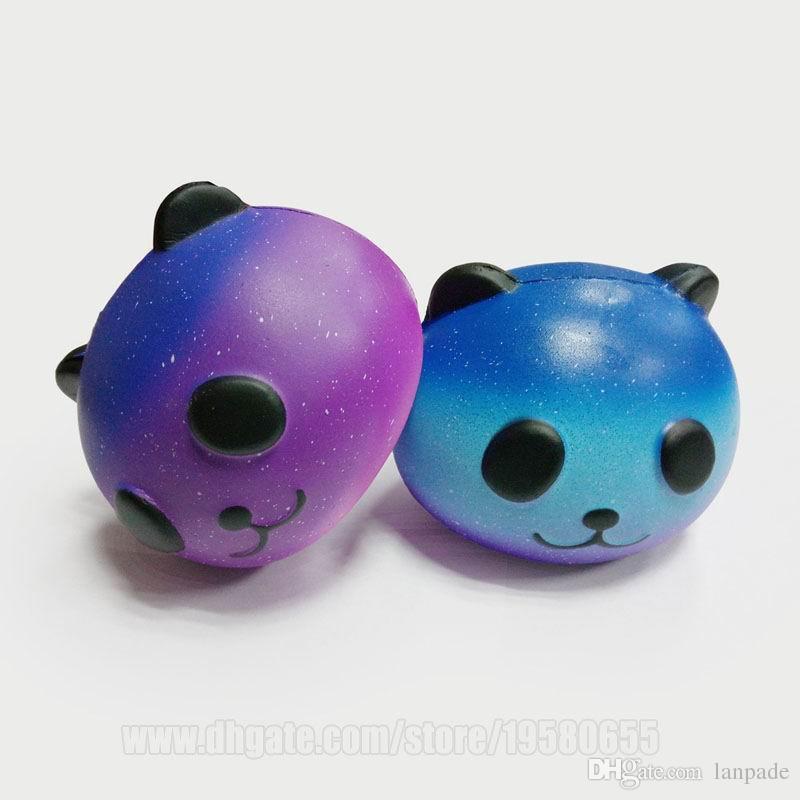 Squishy Toys Blue Panda Jumbo Squishies Bun Bear Cat Sky Slow Rising Food Dhl Free Shipping SQU032