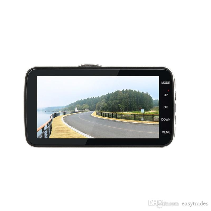 H6 IPS 4 بوصة سيارة DVR كاميرا عدسة مزدوجة مع ADAS LDWS كامل FHD 1296P سيارة تحذير عن بعد مسجل فيديو Dashcam مسجل
