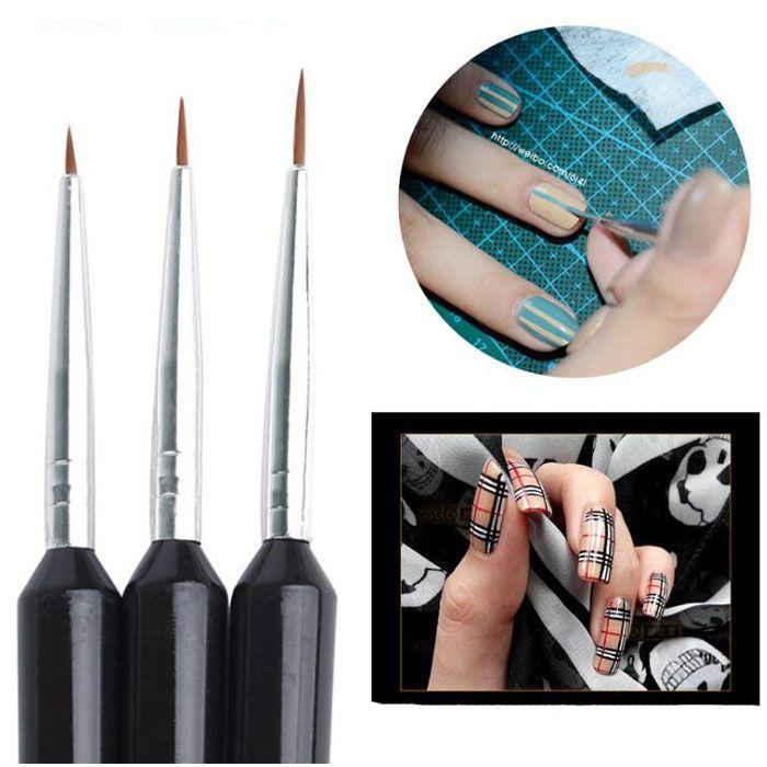 Atacado Nail Art Design Caneta Pintura Pontilhando Caneta Nail Art Brush Unhas Ferramentas Kit Frete Grátis 3 pçs / set 20 conjunto frete grátis