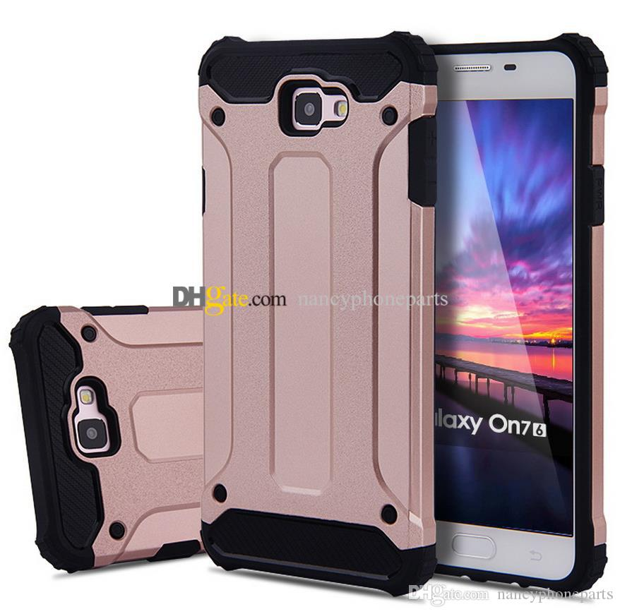 buy popular c54fd cad51 FOR GALAXY J5 J7 J2 Prime Armor Case 2 in 1 TPU PC Samsung C5 C7 C9 PRO  Shockproof Phone Cases Protective Back Covers