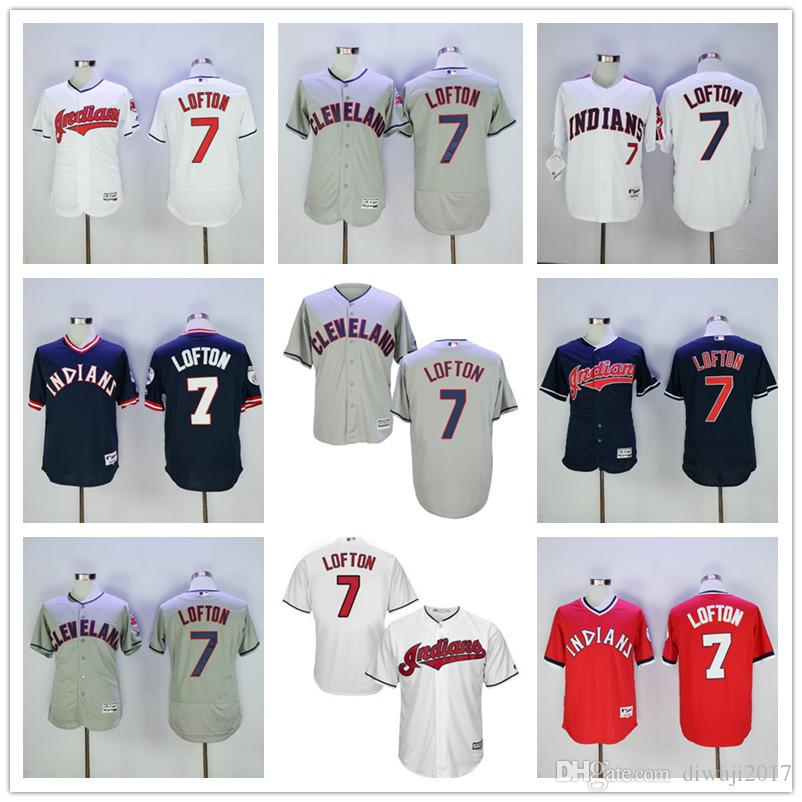 0bab9ad70 ... official store 2019 hot sale kenny lofton jersey 7 cleveland indians  flexbase coolbase throwback baseball jersey