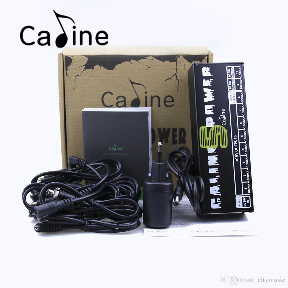 Sıcak satmak Caline CP-05 Gitar Efekt Pedalı Güç Kaynağı On İzole Çıkışlar 9V, 12V, 18V Gerilim Koruması