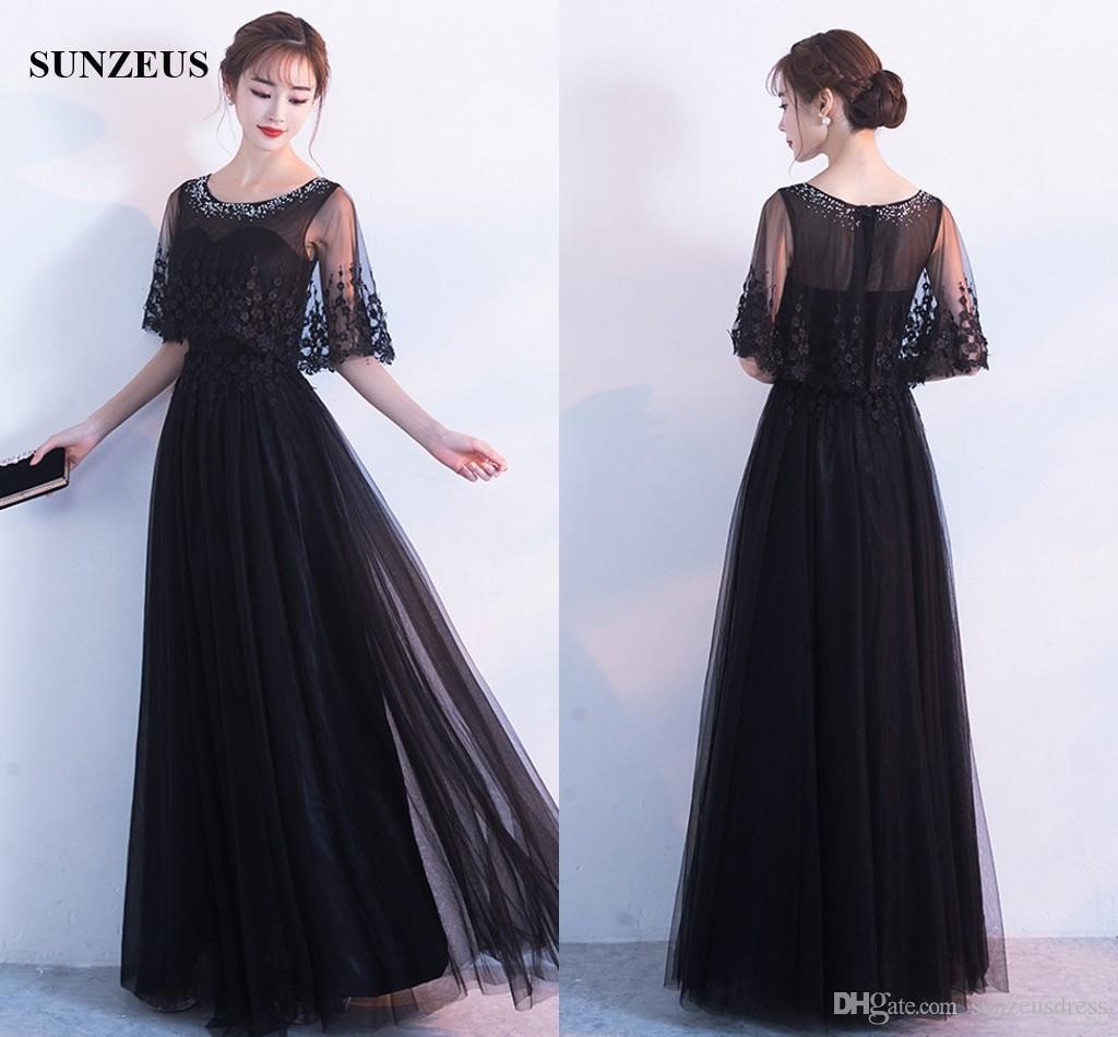 Abendkleid mit cape schwarz