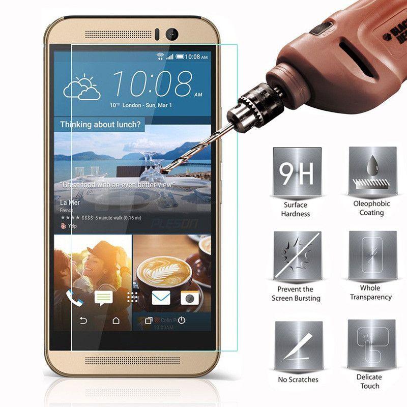 FÜR HTC 10 M9 M8 A9 X9 Desire 12 plus Desire x10 9H Premium 2.5D gehärtetes Glas-Displayschutz /