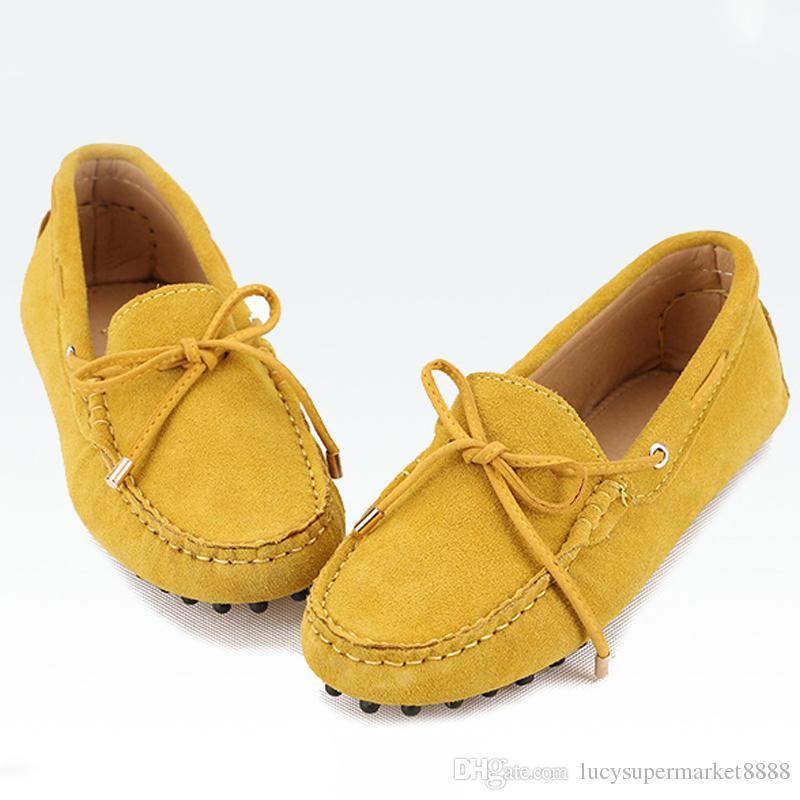Zapatos de hombre 2017 100% cuero genuino de las mujeres zapato plano es Casual mocasines zapatos de mujer pisos mocasines señora conducción de zapatos