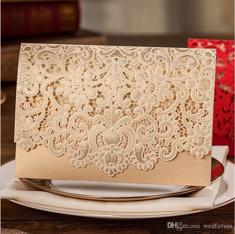 DHL red ,white wedding invitation card folding korean wedding card invitation card cut out beautiful wedding invitation cards