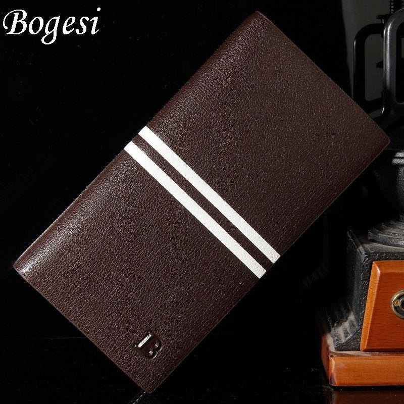 new 2017 men wallets brand mens long thin wallet male money purses with Flip up Window thin long korean purse 383-8-C