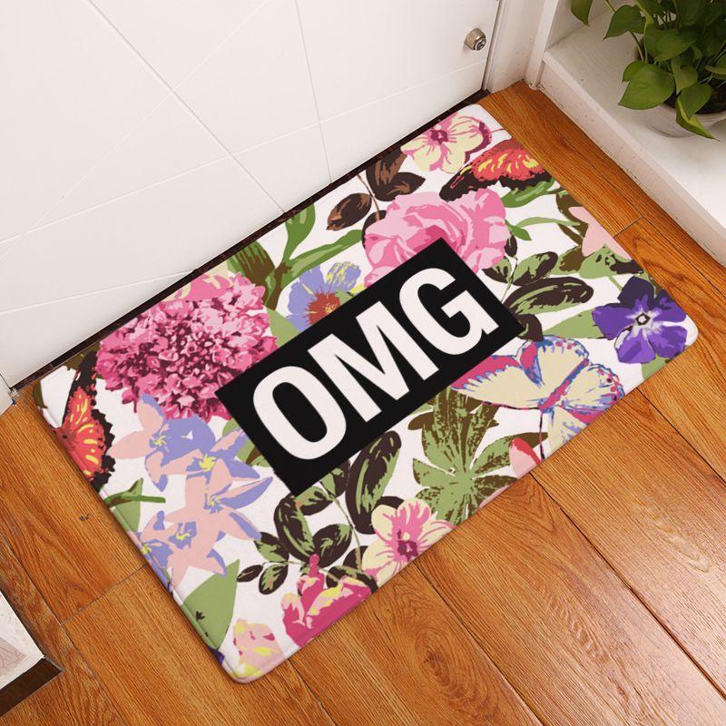 Vibrant Flower Door Mats For Indoor Bar Beach House Cafe Shop ...