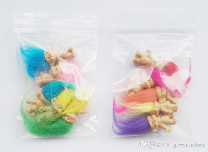 Colorful Hair mini Doll toys cute party favors Family Members Daddy Mummy Baby Boy Girl Dam Toy Gifts