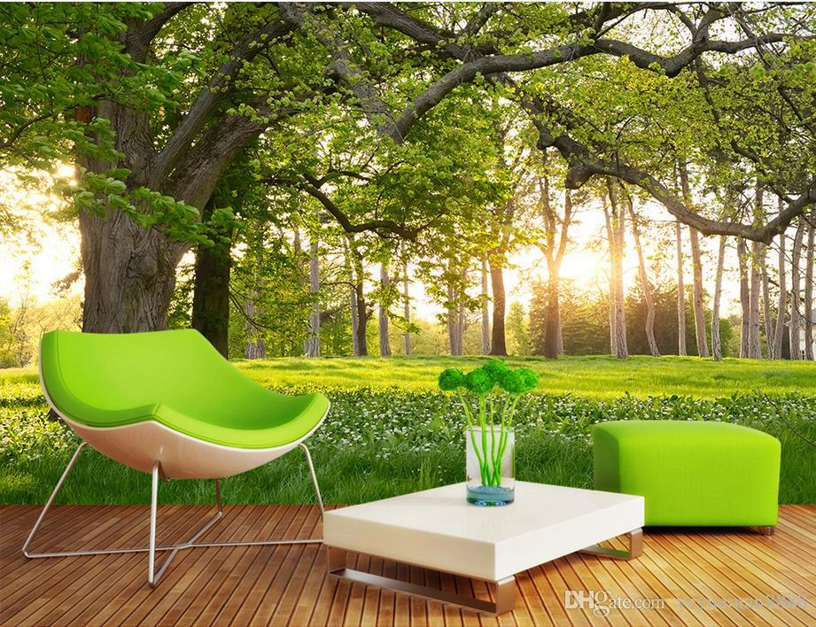 3d mural wallpaper forest park customized 3d landscape - Murales de pared 3d ...