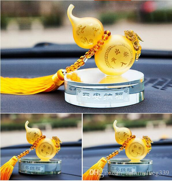 Glass brave gourd high - end creative peace - crystal Decoration