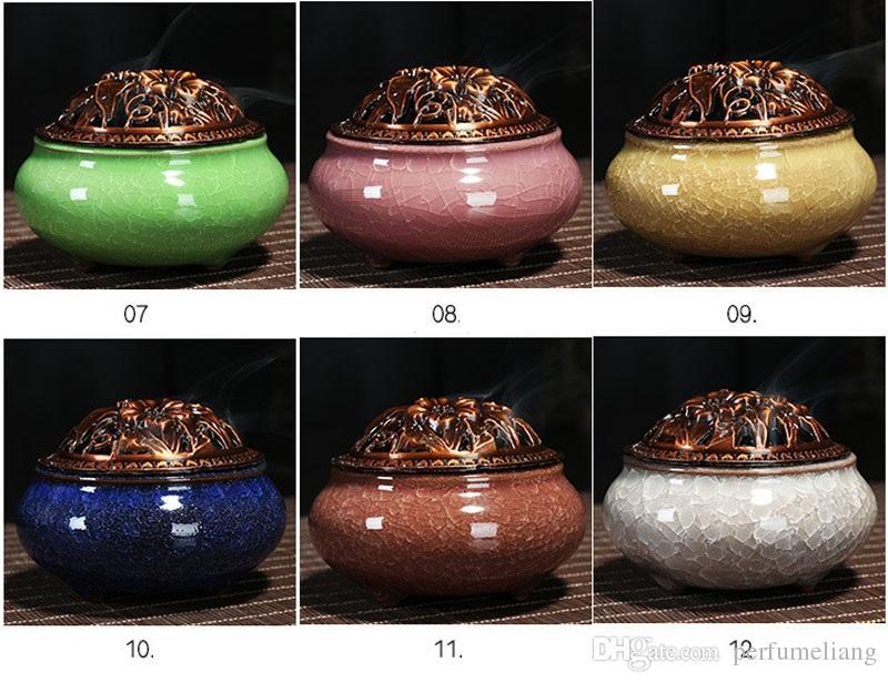 Celadon Cerâmica Buda Incenso Base de Liga de Cobre de Incenso Antigo Queimador de Incenso Varas de Sândalo De Sândalo Frete Grátis ZA4646