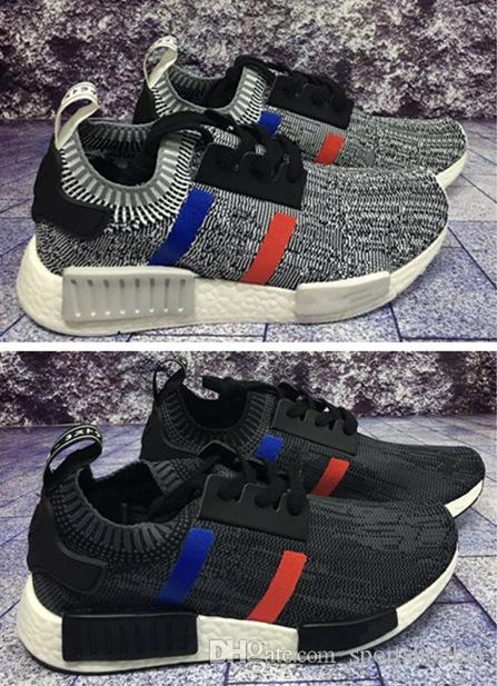 Adidas Tri Color NMD R1 Primeknit PK W/ ON FEET