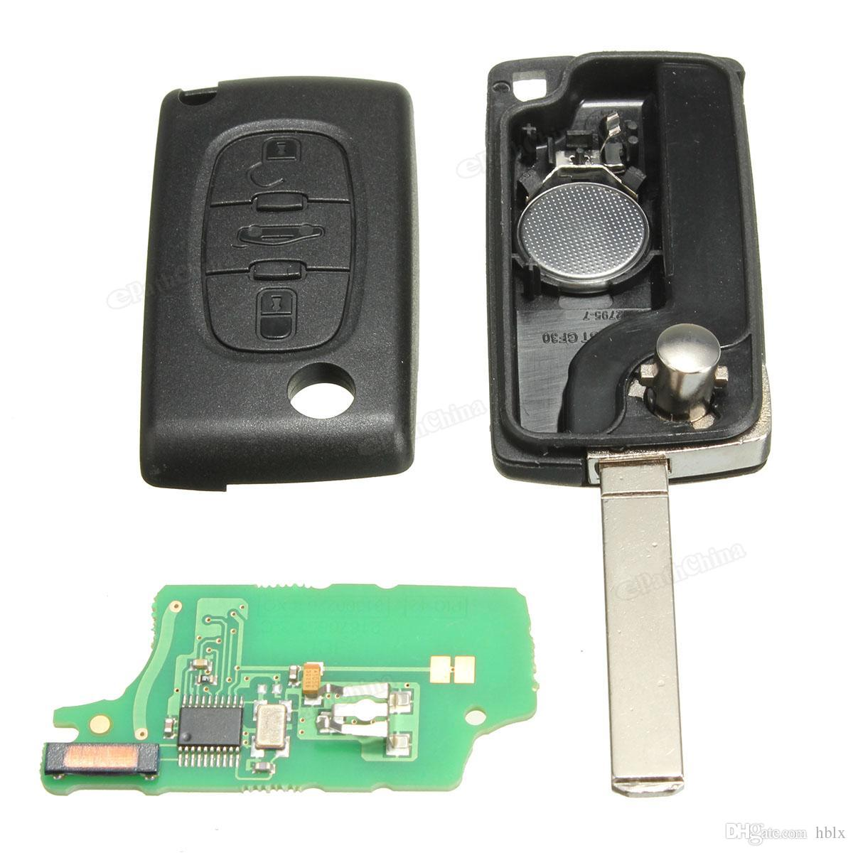 3 Buttons Without slot With ID46 Chip No Standard Battery holder 433mhz Remote Key For PEUGEOT for CITROEN for BERLINGO AUP_404