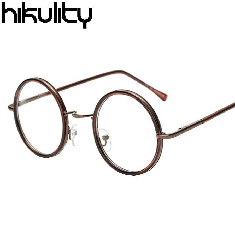 edeb9f3b37 Wholesale- Vintage Eyewear Frames Myopia Glasses Round Clear Lens ...