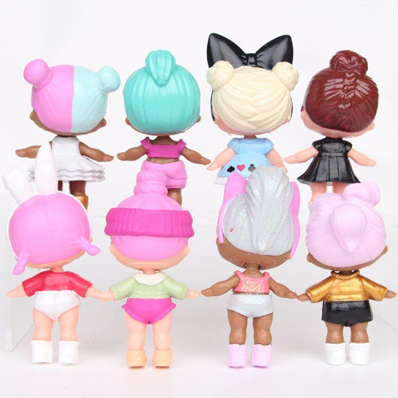 젖병을 가진 9CM LoL 인형 미국 PVC Kawaii 아이들 장난감을위한 Anime 액션 피규어 소녀를위한 현실적으로 다시 태어나는 인형 /