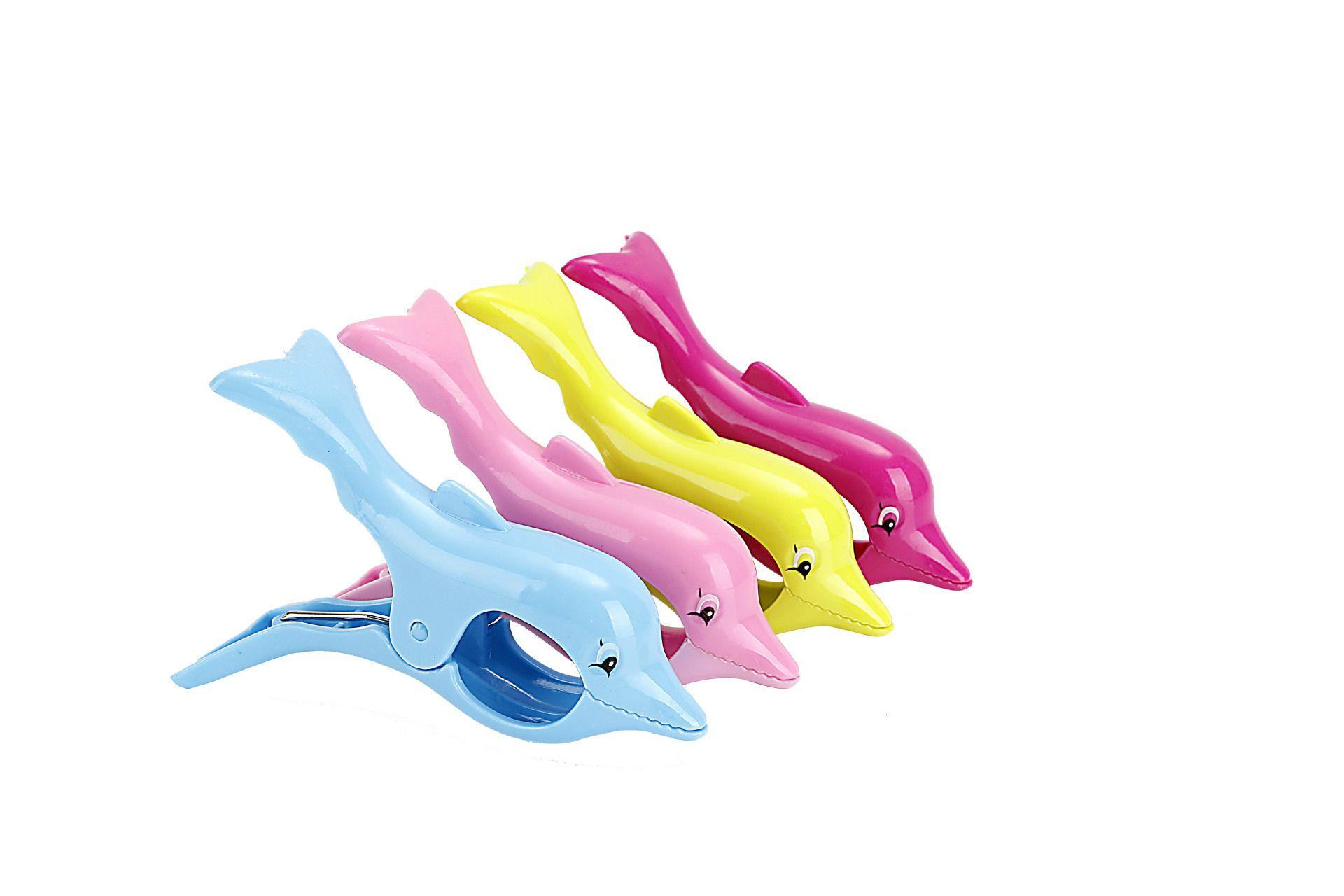 شكل دولفين للفوط الشاطئ كليب الشكل حامل منشفة كليب Multicolors المنتجات الإبداعية لطيف شكل دولفين